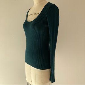 KATE SPADE Fine Teal Blue Green Merino Sweater